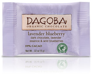 Dagoba Chocolate Tasting Square Lavender Blueberry 59%