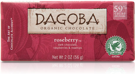 Dagoba Chocolate Raspberry Dark Chocolate Bar