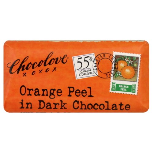 Chocolove Xoxo Dark Chocolate Orange Peel Mini Bar