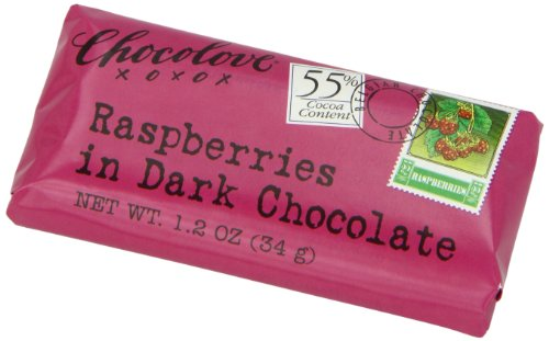 Chocolove Xoxo Dark Chocolate Raspberry Mini Bar