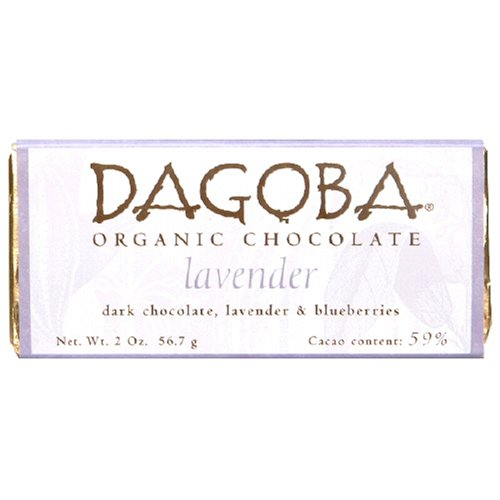 Dagoba Chocolate Lavender Dark Chocolate Bar